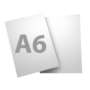 Standard A6 135gsm + gloss UV