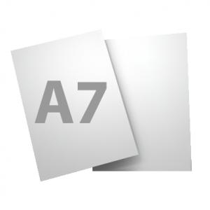 Standard A7 250gsm + gloss UV