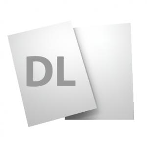 Standard DL 135gsm + gloss UV